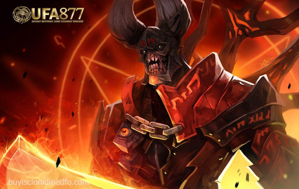 dota ฮีโร่ Doom ปีศาจอเวจีผู้นำพานรกและดาบเพลิงโลกันตร์สู่สมรภูมิ dota ฮีโร่ตนนี้แห่ง dotaเป็นปีศาจที่มีรูปร่างสูงใหญ่มีเกราะสีแดงเพลิง